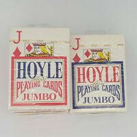 7 Decks Hoyle Poker Jumbo Index Playing Cards 4 Red & 3 Blue Brand New Decks