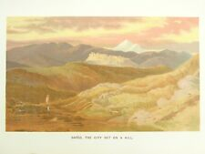 Safed, Israel - 1888 Antique Chromo-Lithograph Print Bible Biblical