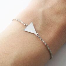 Bracelet motif triangle en argent 925/1000 réglable BR128