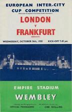 * 1955 - London v Frankfurt - Inter Cities Fairs Cup *