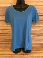 Noble Outfitters Short Sleeve T-shirt Size Large Womens Tee UPF 50+ New NWT Blue
