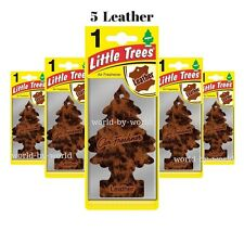 X5 Little Trees LEATHER Scent Magic Trees Hanging Air Freshner Car Truck