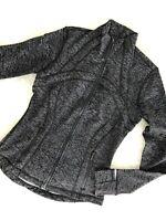 NWT LULULEMON 8 Define Jacket Zip Up Thumbholes Frayed Camo Black White FCBW