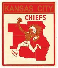 KANSAS CITY CHIEFS  Football  NFL AFL  Vintage Style 1960's Travel Decal Sticker