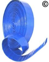 """1"""" Layflat PVC Water Delivery Hose - Discharge Pipe Pump Lay Flat Irrigation Blu"""