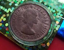 Original AU 1964 Australia Penny, with HOLDER , High grade details all around.