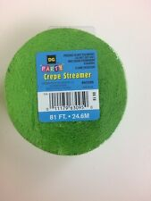 Green Streamer 81ft crepe streamer party garland Lot Of 4