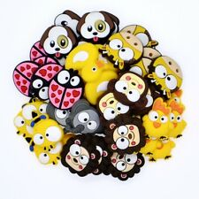 Chidlren Gifts 50pcs PVC Shoe Charms Ornaments Mixed Animals Fit Clog/Wristbands
