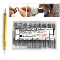 Watchmaker Watch Band Spring Bars Strap Link Pins+Remover Steel Repair Kits Tool