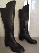 Women's 6 Nine West Black Leather Boots