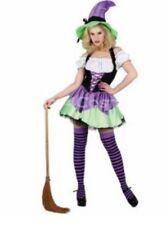 Naughty Witch Wicked Costumes Halloween Fancy Dress Women's  XS