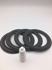 4x Lautsprecher Sicken für RFT BR25, BR26, BR50, BR100, BR37, 7102,+10ml kleber