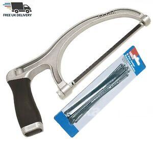 "Junior Hacksaw Saw 6"" (150mm) Heavy Duty Aluminium Hack Saw and 6pc Blades"