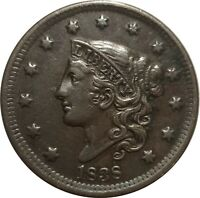 1838 Coronet Head Large Cent, N-10, R.2+, Very Fine VF, Glossy Planchet