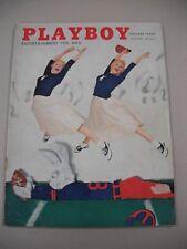 "SCARCE ISH! ""PLAYBOY"" 10/56 VG! JANET PILGRAM CF! JOAN BRADSHAW PICS BY DEDIENES"