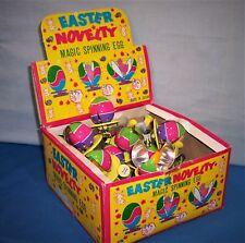 Easter Novelty ~ Magic Spinning Egg ~ Tin Litho ~ Mechanical Toy ~ 1960s Japan