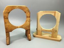 New listing Plate Clock Wooden Stands