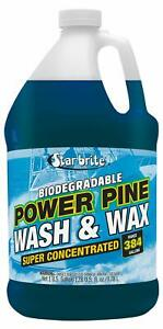 Star brite Power Pine Concentrated Wash & Wax, Biodegradable, 1 Gallon