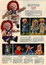 1973 ADVERTISEMENT Doll Stuffed Mrs Beasley Bugs Bunny Baby Beans Raggedy Ann