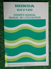 HONDA GXV120 ENGINE / GENERATOR ORIGINAL OWNERS USERS INSTRUCTION MANUAL 1983