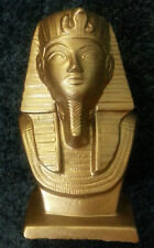 EGYPTIAN KING TUT TUTANKHAMEN BOY PHAROAH SIX 6 INCH BUST BOOK END PAPER WEIGHT
