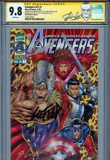 Avengers Vol 2 1 CGC 9.8 SS X2 Gold Signature Edition Stan Lee Liefeld 1 of 4