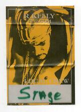 R Kelly 2001 TP2 Tour Local Crew Satin Backstage Pass
