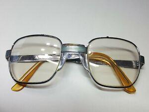 AO American Optical Vtg Safety Glasses Z87 140A Gray Silver Squarish Frames