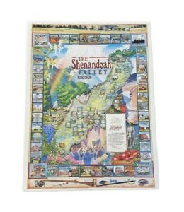 1993 WHITE MOUNTAIN 1000 Piece THE SHENANDOAH VALLEY PUZZLE Virginia COMPLETE