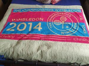 OFFICIAL WIMBLEDON CHAMPIONSHIPS TENNIS GUEST LARGE TOWEL 2014 final 70 × 133 cm