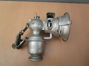 VINTAGE BRITISH MADE MILLER REGALITE CARBIDE BICYCLE LAMP