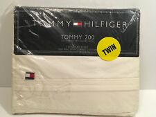 Tommy 200 Hilfiger Ivory Twin Flat Sheet Ring Spun Combed Cotton New Sealed