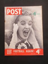 Vintage PICTURE POST Magazine 23 August 1954 Football Again Korea Game Hunting