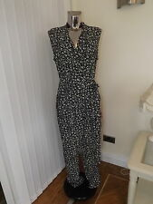 M&S AUTOGRAPH BLACK IVORY WRAP TYPE JUMPSUIT TROUSERS TOP SIZE 14 BNWT RP £65