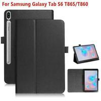 "BLACK PU Slim Folio Case Cover For Samsung Galaxy Tab S6 10.5"" 2019 SM-T860/T865"
