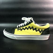 Vans x Peanuts  CHARLIE BROWN Old Skool Low Top Shoes Men's Size 9 SCHULZ RARE