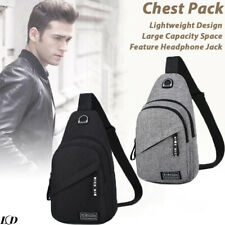 Mens Chest Pack Sling Bag Cross Body Handbag Shoulder Pack Sport Travel Backpack