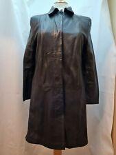 Marks and Spencers Vintage St Michael Ladies Black Leather Jacket Size 14 (UK)