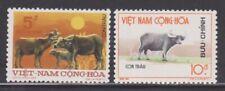 1973 South Vietnam Stamps Water Buffalos Sc # 460 - 61 MNH