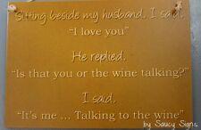 Wine Talking I Love You Sign Alcohol Wooden Shed Kitchen Wine Beer Rum Bar Pub