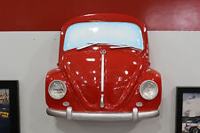 Classic Volkswagen Beetle Painted Red Resin Front Wall Decor w Lights 7580-125