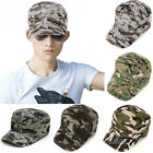New Men Camouflage Army Camo Baseball Cap Hunting Adjustable Cadet Military Hat