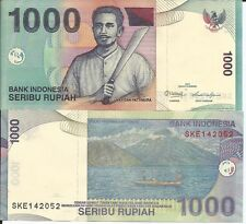 INDONESIA 1000 RUPIAS 2013 LOTE DE 5 BILLETES