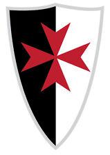 SCUDO dei templari-croce rossa simbolo storico Auto, Furgone Decalcomania Sticker