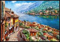 Lake Como - Chart Counted Cross Stitch Patterns Needlework DIY DMC Color