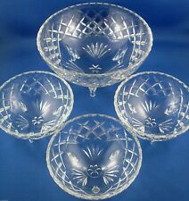 RARE Vintage Diamond Cut Pattern Serving Bowls Set VG Collectable - In Australia