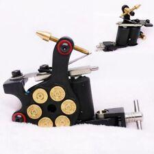 Top Iron Revolver Bullet Pro Gun Shader Liner Tattoo Machine 8 Wrap Coil Black
