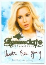 """HEATHER RAE YOUNG """"GOLD DREAMDATE AUTOGRAPH CARD"""" BENCHWARMER DREAMGIRLS 2017"""