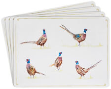 PHEASANT PLACEMATS TABLE SHOOTING COUNTRY SET OF 4 GIFT DINNER MATS GIFT