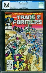 The Transformers 45 CGC 9.6 NM+ Marvel 1988 Comic Universal Blue Label